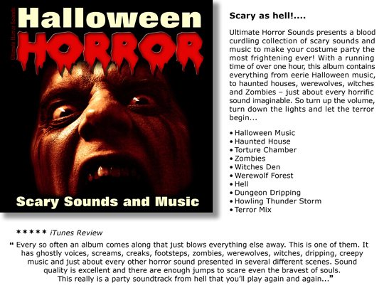 Product picture Halloween Horror - Scary Sounds and Music (Halloween Sound Effects)