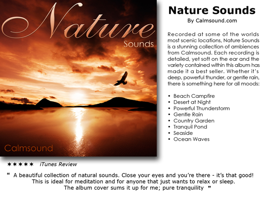 Product picture Nature Sounds - instant download CD of relaxing sounds